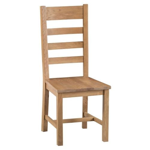 Oakham Country Ladder Back Chair Wooden Seat
